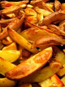 Wienerschnitzel med ovnstegte kartofler